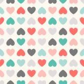 Seamless geometric pattern with hearts.  illustration — Stock Photo