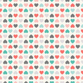 Floral  seamless pattern. Red, green, black and white — Stock Photo