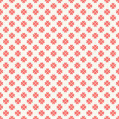 Floral  seamless pattern. Red and white shabby colors — Stock Photo