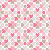 Floral  seamless pattern. Red, pink, gray, brown and white — Stock Photo