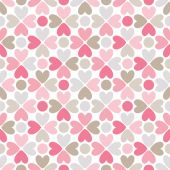 Floral  seamless pattern with heart and dot shapes — Stock Photo