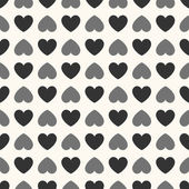 Seamless geometric pattern with hearts.  illustration — Stock Photo