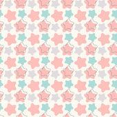Abstraktní geometrická retro hvězda bezešvé vzor. ilustrace — Stock fotografie