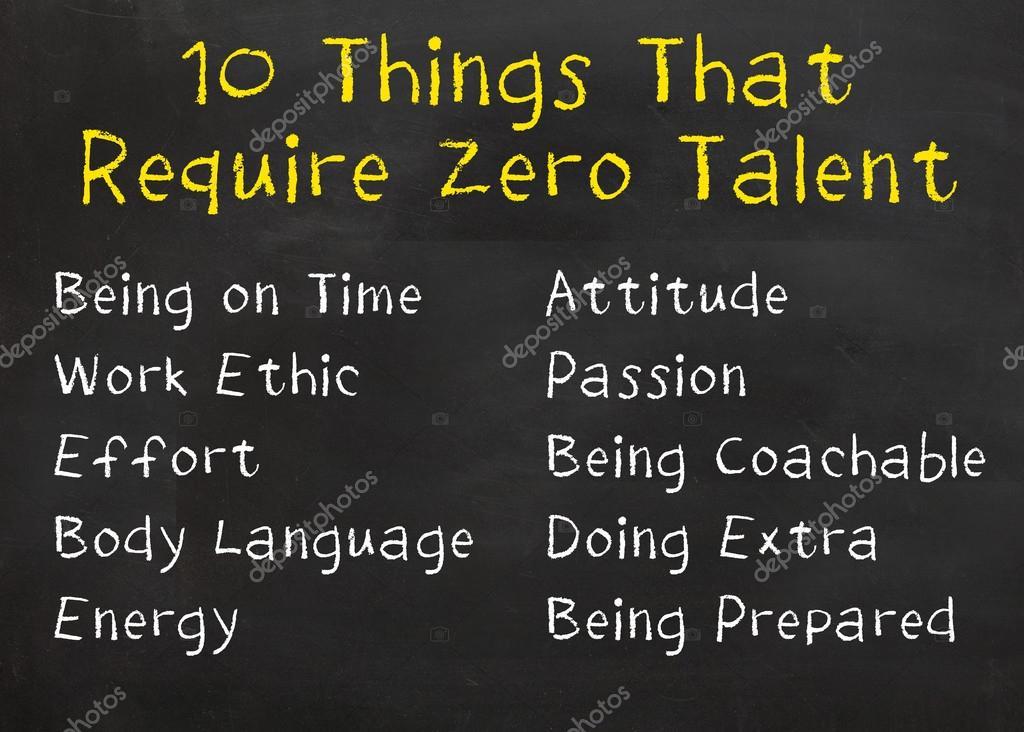 10 Cosas Que Requieren Cero Talento Foto De Stock