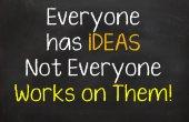 Everyone has ideas but... — Stock Photo