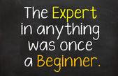 The Expert Was a Beginner — Stock Photo