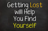 Getting Lost Will Help you find Yourself — Stock Photo