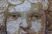 Close up Mosaic Cherub Angel Face — Stock Photo