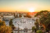 The Piazza del Popolo, Rome at sunset — Stock Photo