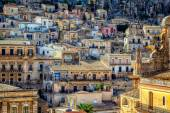 View of City of Modica from San Pietro Church — Stock Photo