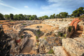 Ruins of Ancient Greek Theatre in Syracuse — Stock Photo