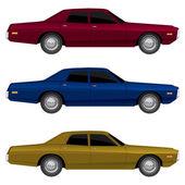Retro cars — Stock Vector