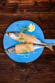 Culinary seafood eating — Stock Photo