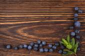 Fresh blueberry background with copy space. — Stock Photo
