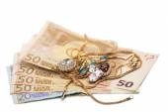 Schmuck und Geld — Stockfoto