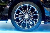 Logo of Toyota on wheel — Stock Photo