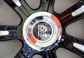 Logo der Roll Royce auf Rad — Stockfoto
