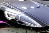 Headlights of Aston Martin series DB9 carbon black — Stock Photo