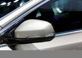 April 2 : wing mirror of Volvo series V40 — Stock Photo