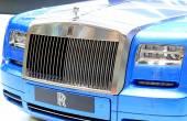 Blue Rolls Royce luxury car — Stock Photo
