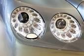 Headlight of Bentley series Flying Spur V8 — Stock Photo