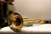 Wind instrument. Trumpet. Concert Hall. Wind Instruments — Stock Photo