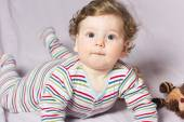 Active baby.Portrait of a cheerful child active. six-month baby — Stock Photo