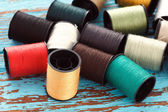 Colorful thread needlework embroidery tailor craft repair — Stock Photo