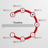 Infographics timeline concept. — Cтоковый вектор