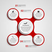 Abstract circle infographic in the form of metabolic. Design elements. — Vecteur