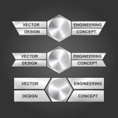 Vector design engineering concept. — Stockvektor
