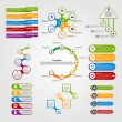 Set colorful infographics design elements. Vector illustration. — ストックベクタ #58740507