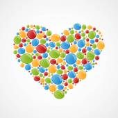 Heart of colorful bubbles. Vector illustration. — Stock Vector
