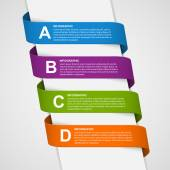 Abstract Colorful 3D Ribbons Infographic. Design element. — ストックベクタ