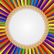 Abstract frame of colored pencils background. Vector illustration. — Stock Vector #67102089
