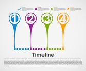 インフォ グラフィックのタイムラインの概念. — ストックベクタ