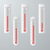 Modern thermometers for design set. — Wektor stockowy