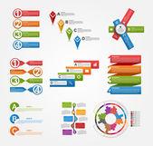 Set colorful infographics design elements. Vector illustration. — Stock Vector