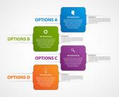İş seçenekleri infographics şablonu. — Stok Vektör