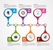 Infographics design template. Timeline concept. — Stock Vector