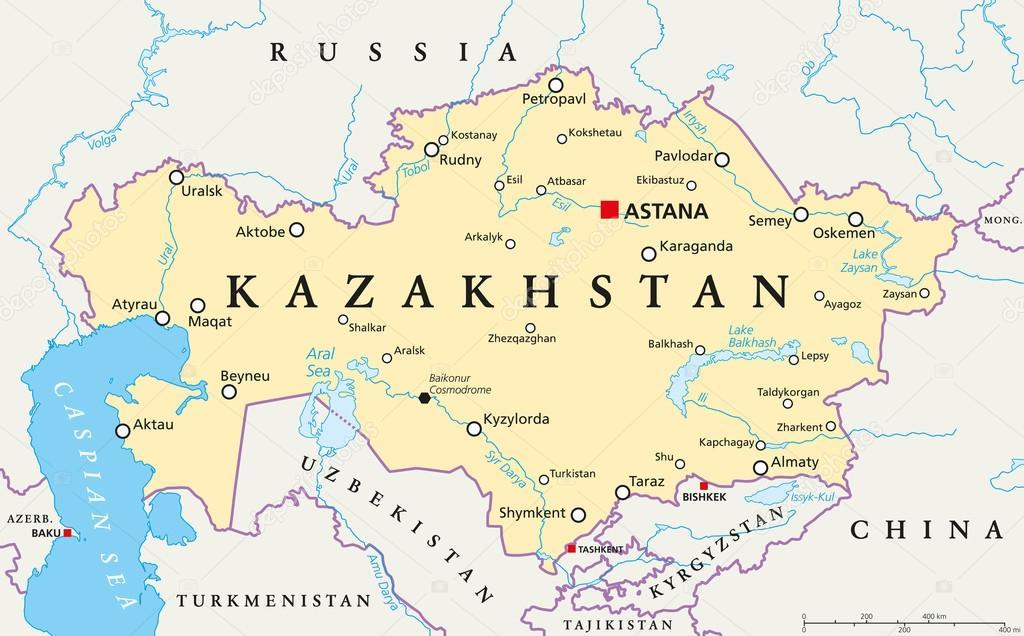 Политическая карта Казахстана — Векторное изображение ...: http://ru.depositphotos.com/116279550/stock-illustration-kazakhstan-political-map.html