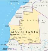 Mauritania Political Map — Stock Vector