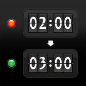 Daylight saving time digital dial clock face — Cтоковый вектор