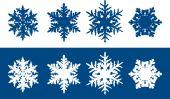 Copos de nieve — Vector de stock