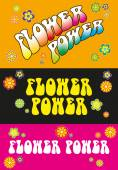 Flower Power Lettering — Vector de stock