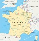 France Political Map — Stock Vector