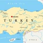 Постер, плакат: Turkey Political Map