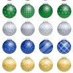 Christmas Tree Balls Colorful — Stock Vector #54030439