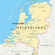 Постер, плакат: Netherlands Political Map