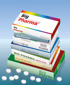 Big Pharma Medicine — Stock Vector